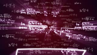 Falling Mathematic Formulas Code Numbers, Animation, Rendering, Background, Loop, 4k