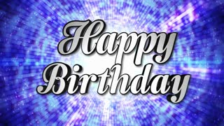 Happy Birthday Animation Text and Disco Dance Background, Loop, 4k