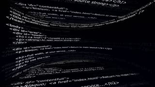 HTML Code Room, Abstract, Animation, Rendering, Background, Loop, 4k