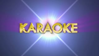 KARAOKE Gold Text in Particles, Rendering, Animation, Background, Loop, 4k