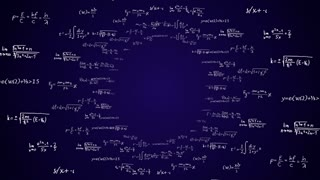 Mathematic Formulas Code Numbers, Animation, Rendering, Background, Loop, 4k