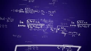 MATHEMATIC Formulas Numbers Animation, Background, Rendering, Loop, with Alpha Channel, 4k