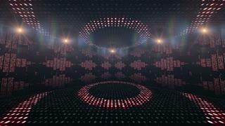 Music Waves Room, Lights Bulbs Animation, Rendering, Background, Loop, 4k