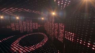 Music Waves Room, Radio, Lights Bulbs Animation, Rendering, Background, Loop, 4k