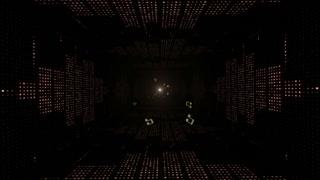 Music Waves Tunnel, Lights Bulbs Animation, Rendering, Background, Loop, 4k