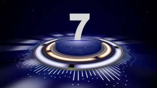 NUMBER 7, Top Ten Numbers Animation with Alpha Channel, Rendering, Background, Loop, 4k