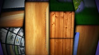 POKER Text Animation in Wood Gate and Slot Machine Combination, Background, Rendering, Loop, 4k