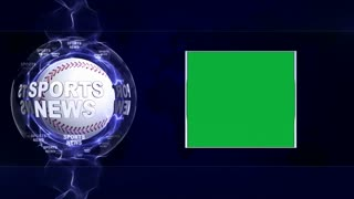 SPORTS NEWS Text Animation Around Sport Balls, Rendering, Background, Loop, 4k