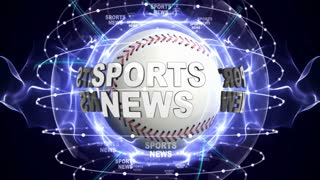 SPORTS NEWS Text Animation, Rendering, Background, Loop, 4k