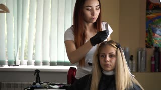 Professional hair coloring