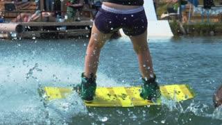 Sports Girl on Wakeboard