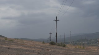 storm, storm at the power line.
