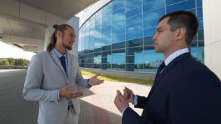 talks about business development