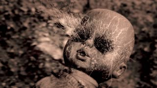 OLD BABY DOLL WITH FREAKY EYES, IN 4K