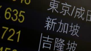 CU PAN Departure board / Hong Kong International Airport, Hong Kong