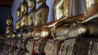 CU TU Golden Buddha statues / Wat Pho, Bangkok, Thailand