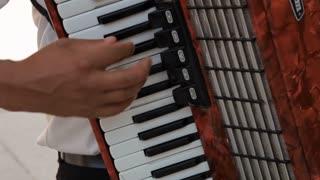CU TU Man Playing Accordion / Venice, Italy