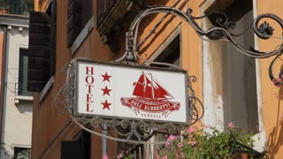 MH LA LD Hotel Sign / Venice, Italy
