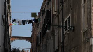 MH LA LD Laundry Hanging out to Dry Between Buildings / Venice, Italy