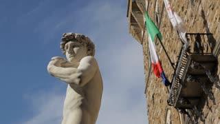 MH LA LD Statue of David in Palazzo Vecchio / Florence, Italy