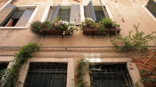 MH TD House with Flower Boxes in front of Windows / Venice, Italy