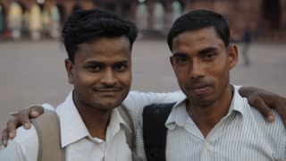 MH Two Men Smiling / India