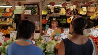 MH Woman Shopping in Vegetable Market / Venice, Italy