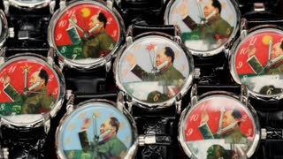 MS Group of watches with waving chairman Mao