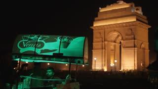 MS Ice Cream cart in front of India Gate / New Delhi, India