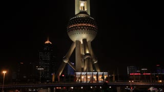 MS The Oriental Pearl Tower at night / Shanghai, China
