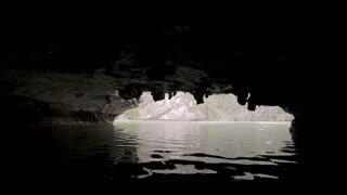 MS WS Kayaking in limestone cave / Vietnam