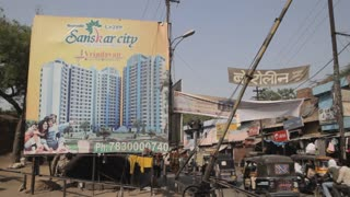 WS Billboard advertising new condo development / New Delhi, India