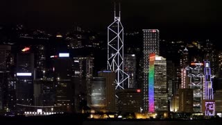 WS City skyline at night / Hong Kong