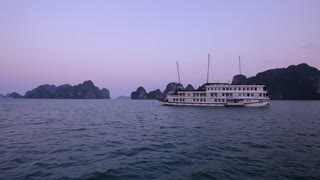 WS Cruise ship in Ha Long Bay / Vietnam