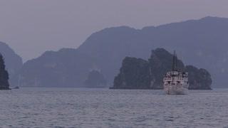 WS Cruise ship in Ha Long Bay / Vietnam