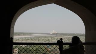 WS Distant view of Taj Mahal / Agra, India