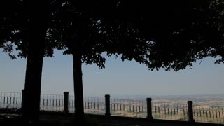 WS DS Landscape with horizon / Tuscany, Italy