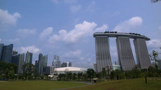 WS Financial district and Marina Bay Sands / Singapore