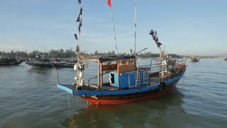 WS Fishing Boat Floating in South China Sea / Vietnam