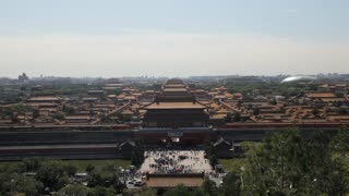 WS HA Forbidden City with cityscape in background / Beijing, China