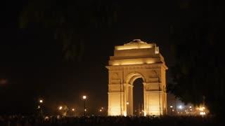 WS India Gate at night / New Delhi, India