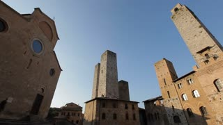 WS LA PAN Buildings at San Gimignano Piazza / Tuscany, Italy