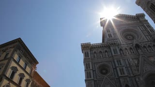 WS LA PAN Santa Maria Del Fiore Cathedral with Sun Flare / Florence, Italy