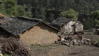 WS Old run-down farmhouses / India