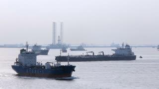 WS PAN Oil Tankers in harbor . Singapore