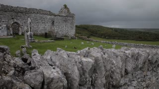 WS PAN Old Stone Building with Graveyard / Ireland