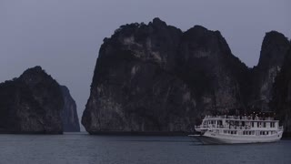 WS PAN Ship anchored in Ha Long Bay / Vietnam