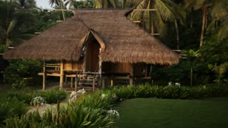 WS PAN Thatched villa surrounded by plants / Indonesia