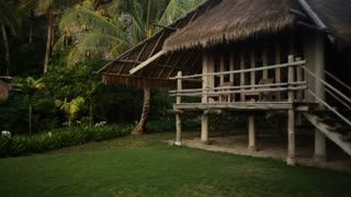 WS PAN Thatched villas surrounded by greenery / Indonesia