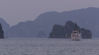 WS Passenger ship in Ha Long Bay / Vietnam